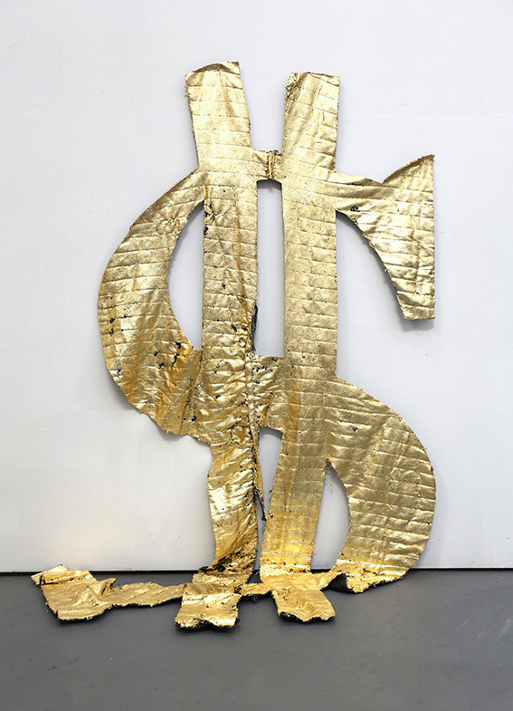 Lois Pratt_Black Gold_Dollar Sign